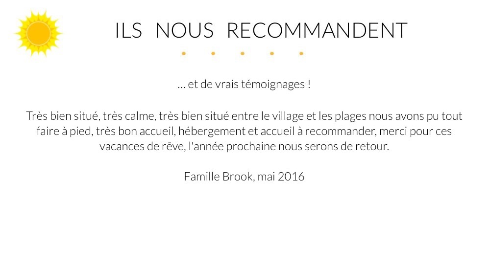 Giens Location Appartement Témoignage Famille Brook