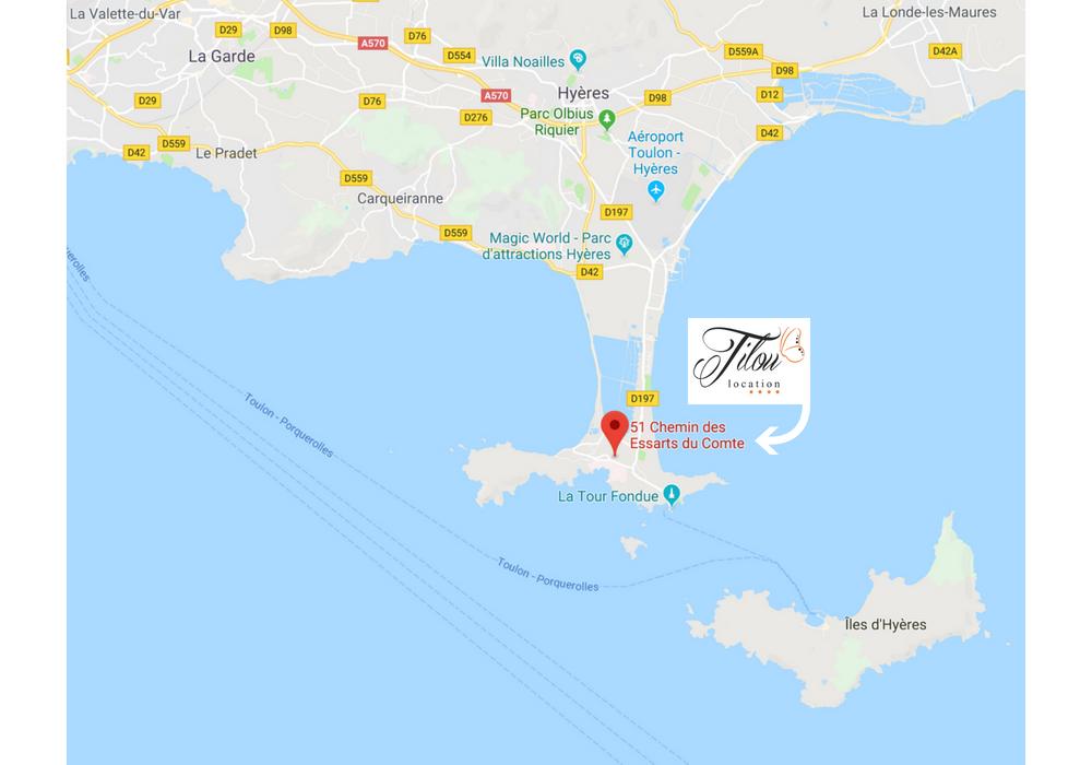 la tour fondue giens hyeres bateau google map